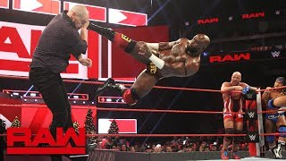 Angle, Roode, Gable & Crews vs. Corbin - No Disqualification Handicap Match: Raw, Dec. 17, 2018