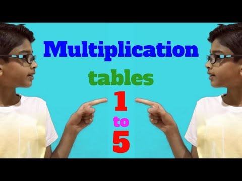 multiplication tables 1 to 5 learn numbers for children how to easily memorize  with DJ Patel
