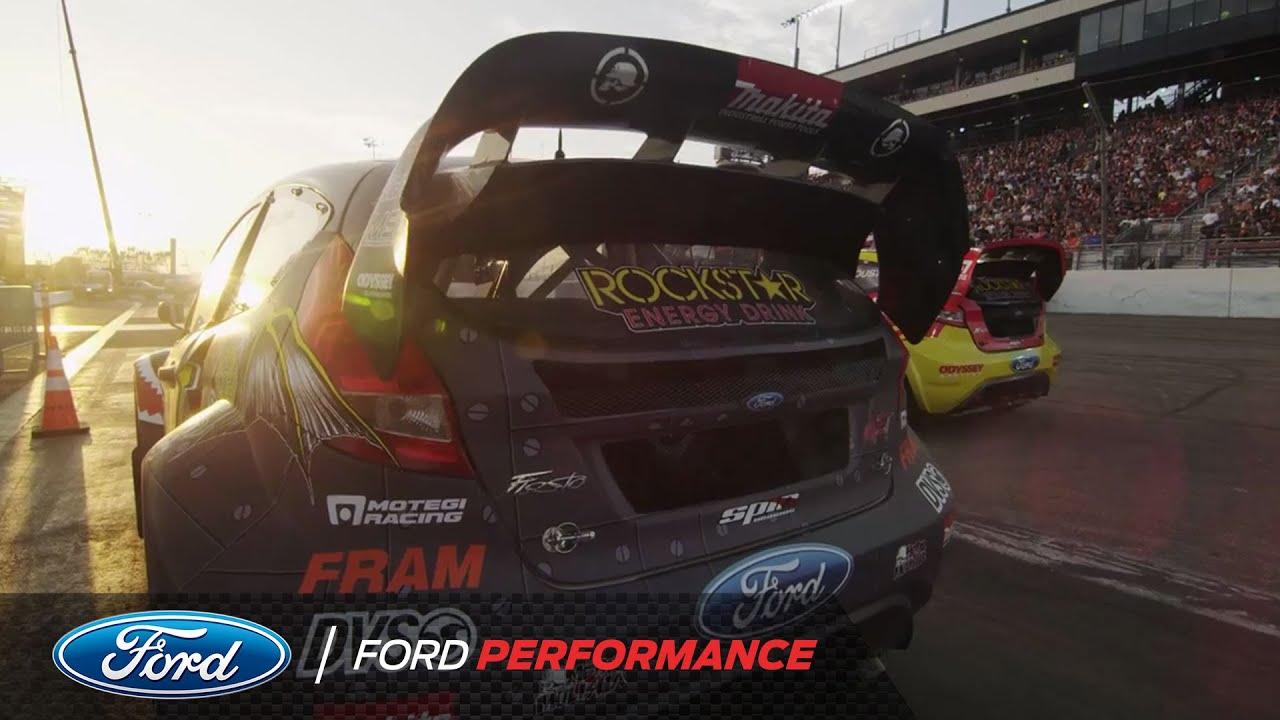 2013 X Games LA: Gymkhana Grid Debut   Fiesta ST   Ford Performance