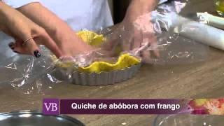 Você Bonita - Quiche de Abóbora com Frango (20/08/15)