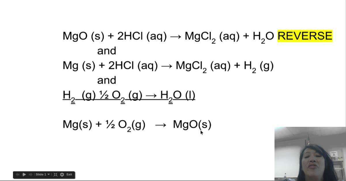 enthalpy of formation of magnesium oxide lab report