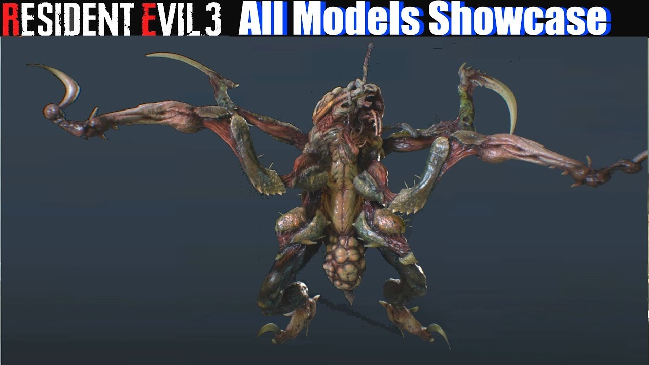 Re3 All Models Unlocked Showcase Resident Evil 3 Remake 2020