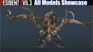 RE3 All Models Unlocked Showcase - Resident Evil 3 Remake 2020