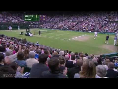 Roger Federer đánh bại Andy Murray tại chung kết Wimbledon 2012.