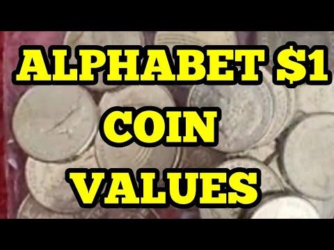Alphabet $1 Coin Values On EBay