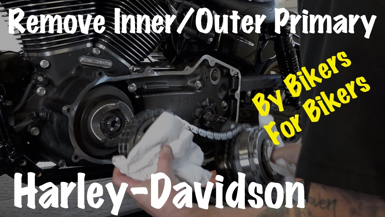 Harley Inner Outer Primary Housing Clutch Compensator Sprocket 84 Shovelhead Wiring Diagram Diy Chain Removal Youtube