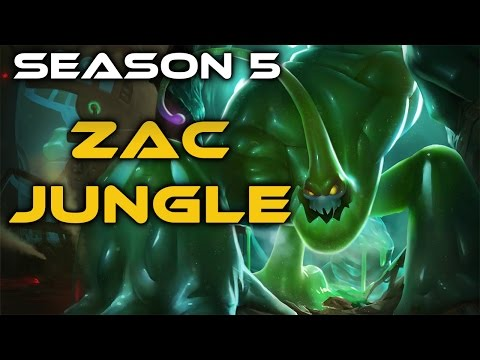 League of Legends - Zac Jungle - Full Game Commentary
