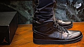 Nike Outlet Pickup AIR JORDAN 1 MID Tripple Black Sneaker Preview and Sneaker Giveaway