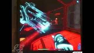 TRON 2.0 PC Games Gameplay - Shocking and shooting