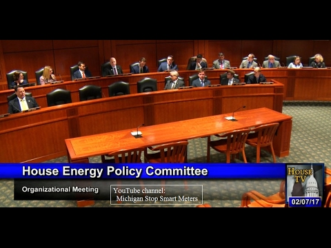 Michigan House Energy Committee 2017 First Meeting