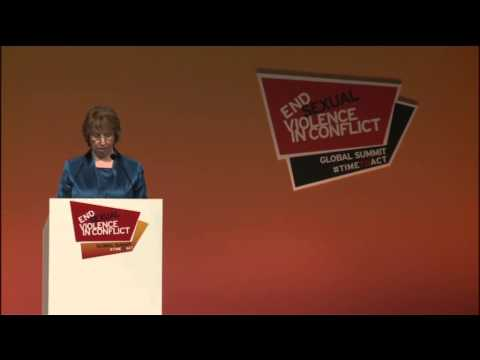 Catherine Ashton at the Global Summit to End Sexual Violence in Conflict
