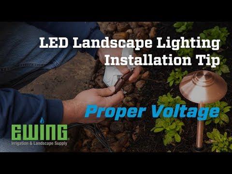 Led Landscape Lighting Installation Tips Proper Voltage