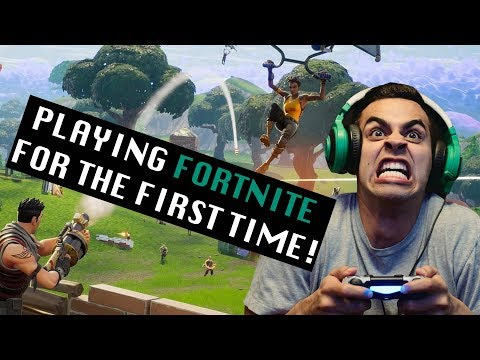 Playing Fortnite for the First Time!  David Lopez