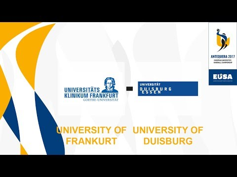 U. of Frankfurt vs U. of Duisburg-Essen, M15, 1st to 4th Semifinals Male - EUC Handball 2017