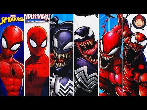 Unboxing Spider-Man Titan Hero Series Toys - Spider-Man Venom Carnage 12 Inch Figures