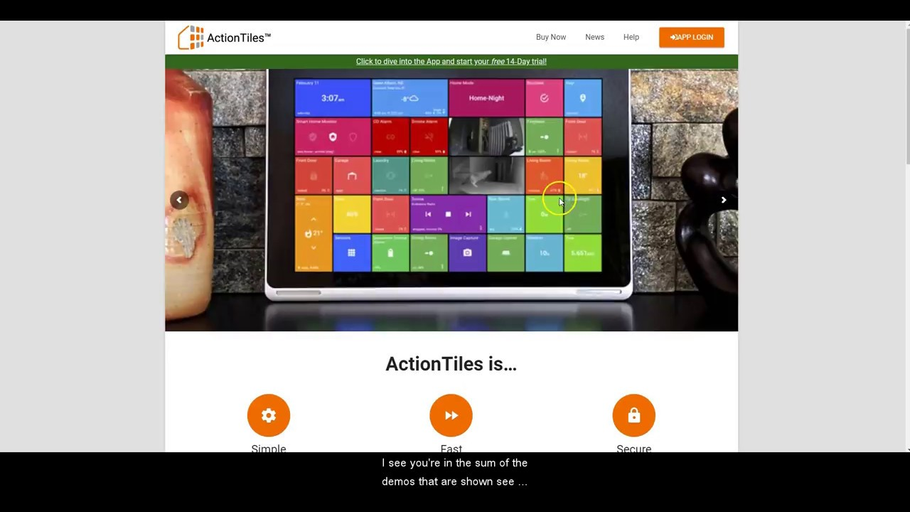 ActionTiles Overview SmartThings Integration for Tablet or PC - Review
