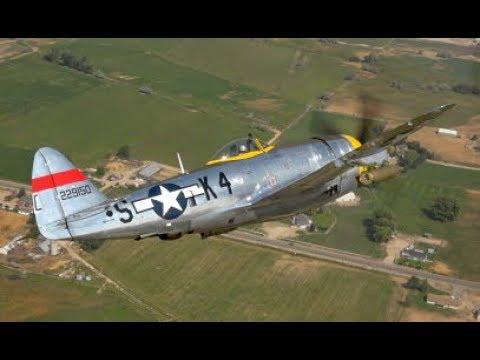Dottie Mae P-47 Air-to-Air on First Public Flight