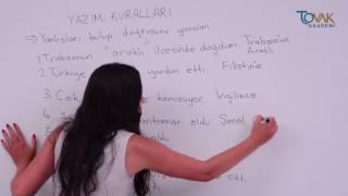 DERS 14 / YAZIM KURALLARI - ÖRNEKLER / İLKOKUL TÜRKÇE DESTEK