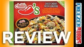 Chili's Cheesy Chicken Pasta Florentine Video Review: Freezerburns (ep661)