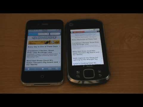 iPhone 4 vs. Motorola CLIQ XT WiFi Speed Test