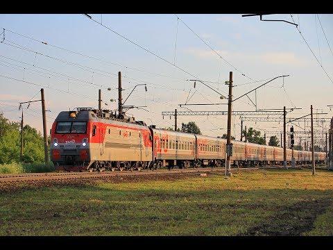 ЭП1М-714 с пассажирским поездом, ст. Шахунья