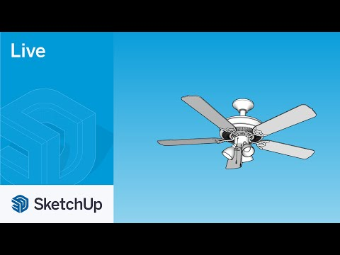 Modeling a Ceiling Fan in SketchUp Live!