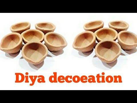 4 Easy ways to decorate plain Diya at home | Diya painting idea| Diwali decoration | EASY ART Kala