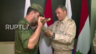 Syria: Syrian Brigadier General handed awards after military success