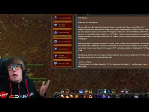 DOSTAŁEM ODPOWIEDŹ OD GM'a NA TEMAT GANKOWANIA - World of Warcraft: Legion