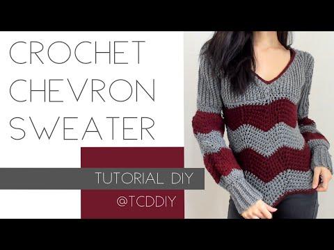 Crochet Chevron Sweater | Tutorial DIY