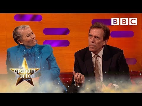 When Hugh Laurie was told to throw poo at a lion! | The Graham Norton Show - BBC