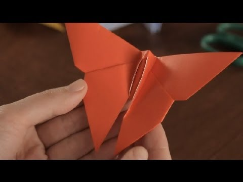 How To Make An Origami Butterfly Simple Fun Origami Youtube