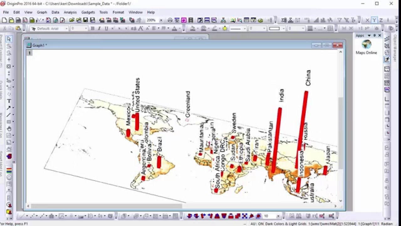 Using the Maps Online App to Create a 3D Bar Graph (VT-2705) - YouTube
