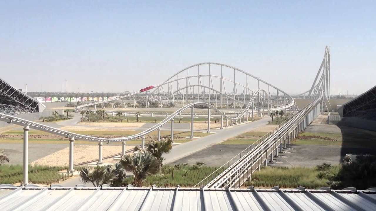 Roller Coaster - Ferrari World Abu Dhabi - YouTube
