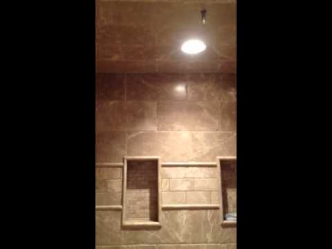 Curbless shower with linear drain - YouTube
