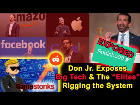 """Donald Trump Jr. Exposes Big Tech & The """"Elite"""" With The GameStop Stock Situation   Sy"""