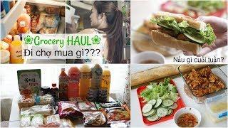 Cuối Tuần Đi Chợ NHẬT ❀ GROCERY HAUL ❀ Thức ăn cho cả tuần ❀  Làm bánh mì gà nướng | mattalehang