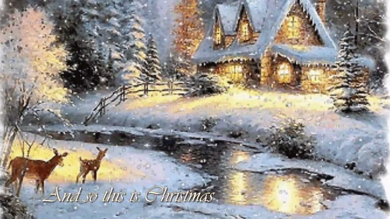 Celine Dion So This Is Christmas Lyrics Youtube