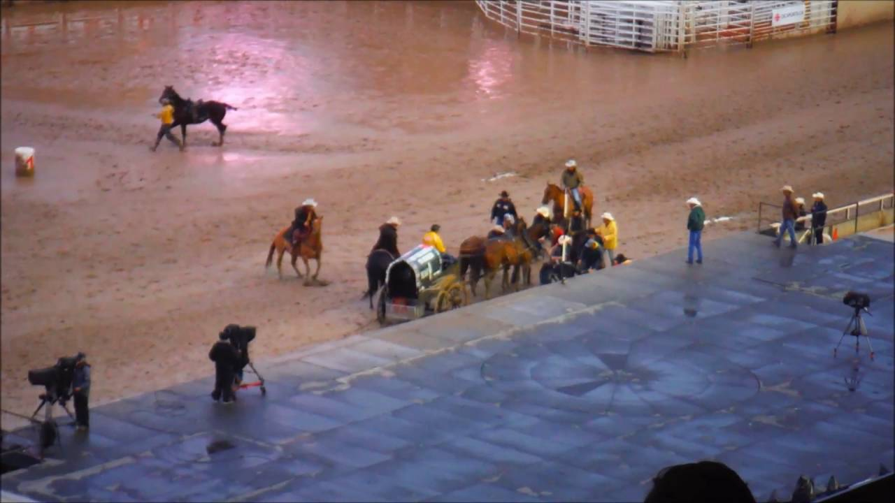 Horses Crash Headlong Into Stage At Calgary Stampede Youtube