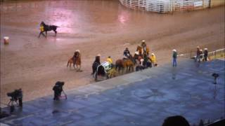 Horses Crash Headlong Into Stage at Calgary Stampede