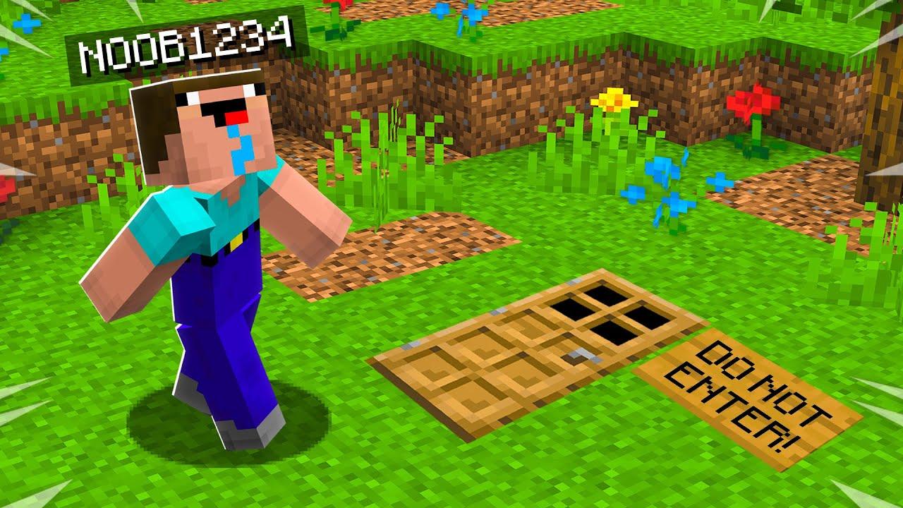 Encontrei a SECRET Minecraft House do Noob1234! + vídeo