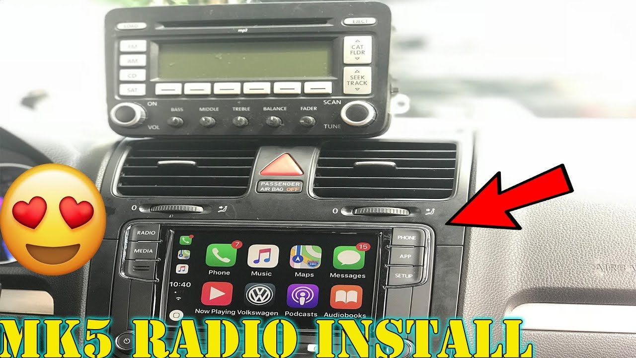 The Best VW Mk6/Mk5/JETTA App Radio Head Unit RCD330 : Install + Review