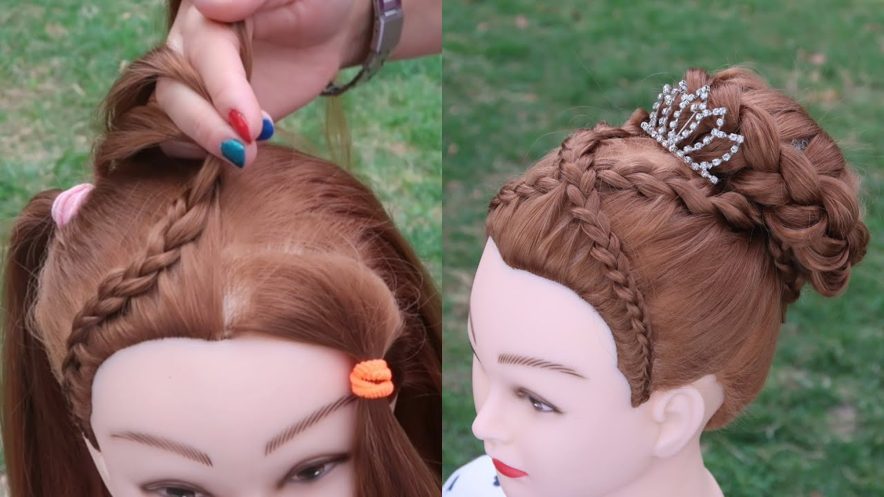 Amazing Hair Transformation - Beautiful hairstyle for School #11