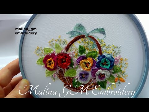 Flower Embroidery * How To Embroider: Pansies