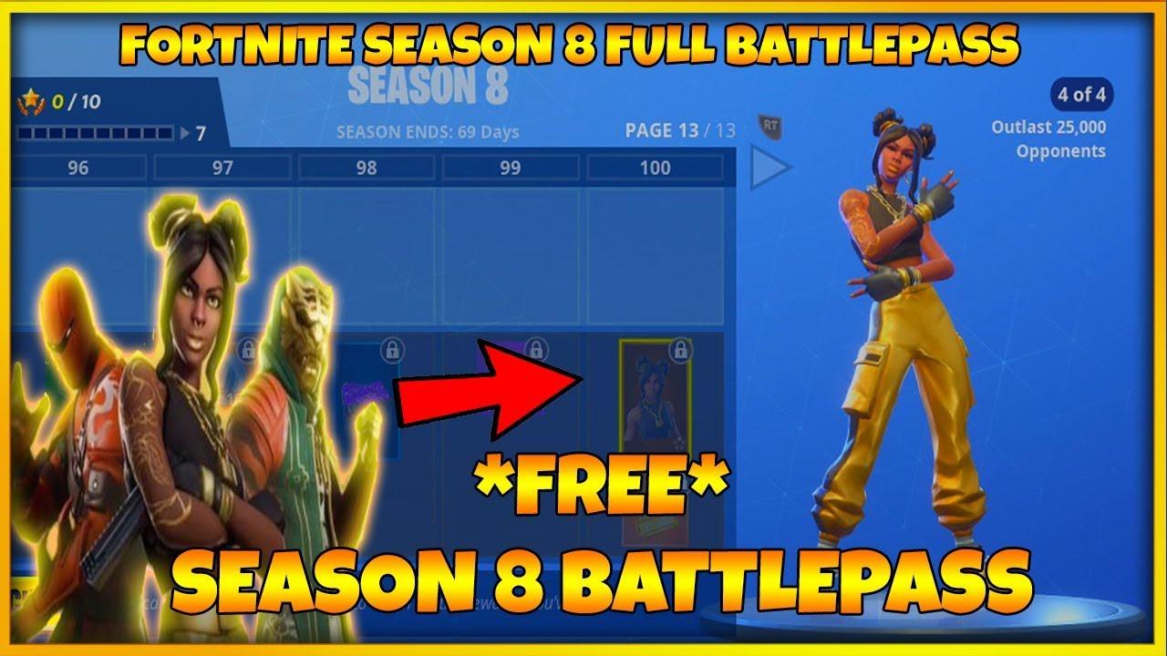 Fortnite Season 8 Full Battle Pass Season 8 Skins Fortnite Season
