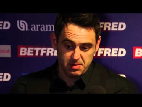 Ronnie O'Sullivan is out of the Betfred World Snooker Championship