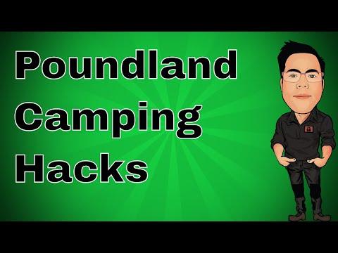 Poundland Camping Hacks