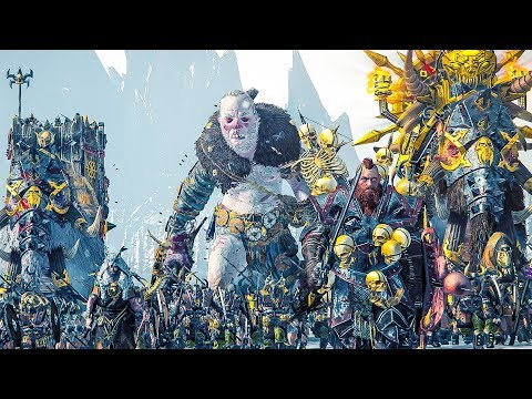 NORSCA - Total War WARHAMMER Cinematic Battle |