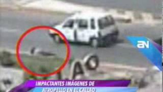 La imprudencia casi le cuesta la vida a una mujer que fue atropellada en el Callao
