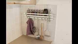 How to install - Wall Mounted Spice Rack Utensil Hooks